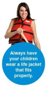Always have children wear...