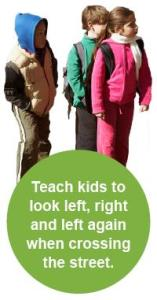 Teach kids to look left