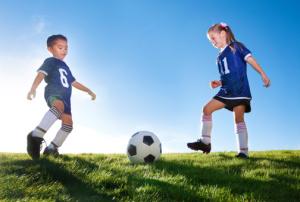soccer playing kids