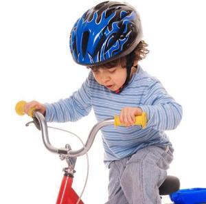 toddler on bike